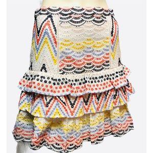 Anthropologie HUTCH Eyelet Ruffle Skirt size 6